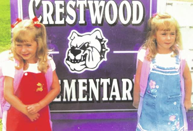 Olivia and Alexis Bergman early on in their school career at Crestwood Elementary School.