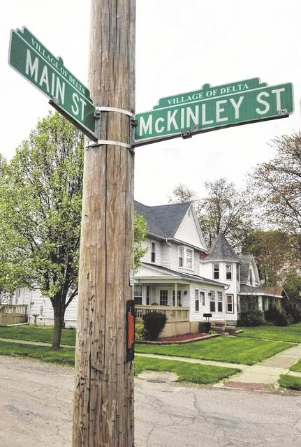 The intersection of Main and McKinley street in Delta is one of four in line for improvements ahead of the ODOT resurfacing project set for 2021 in the village. Taylor Excavating has been assigned the task of fixing the intersections.