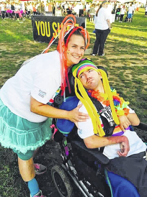 Debbie Spiess and BJ Ernst at a Fun-Run Event they attended together. Debbie will bring BJ permanently into her home for care.