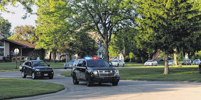 A police escort ushered the 2020 Delta seniors through town Thursday evening. Beginning at the high school, the parade traveled all the way to the Field of Dreams Drive-in in Liberty Center where a virtual graduation ceremony was held.