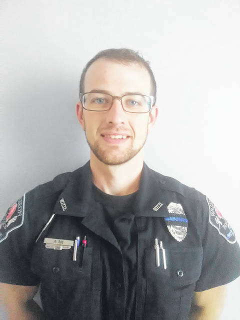 New Wauseon police officer Richard Roe was sworn in during Monday's City Council meeting.