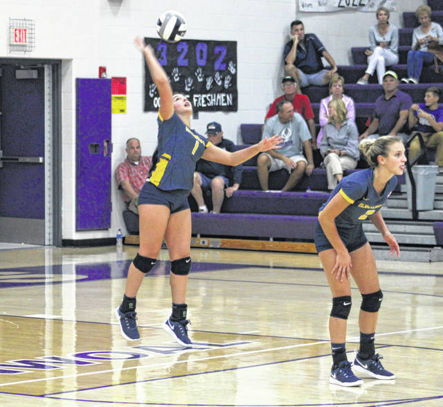 Archbold's Hadley Galvan serves one up in a match at Swanton last season. Galvan returns after being named honorable mention all-league a season ago.