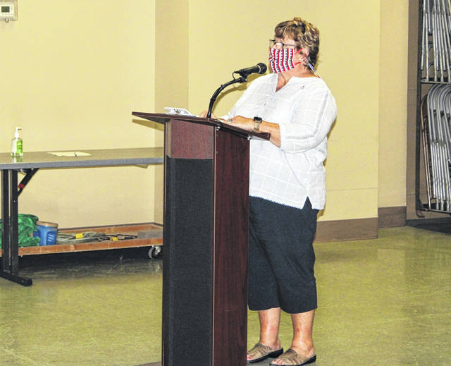 County Commissioner hopeful Becky Thatcher addressed Council Monday to get the word out about her candidacy.