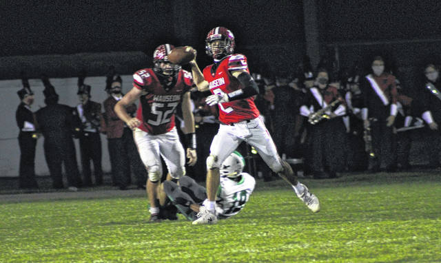Wauseon quarterback Connar Penrod fires one downfield during last Friday's game versus Delta. Penrod hopes to lead the Indians past Archbold this Friday.
