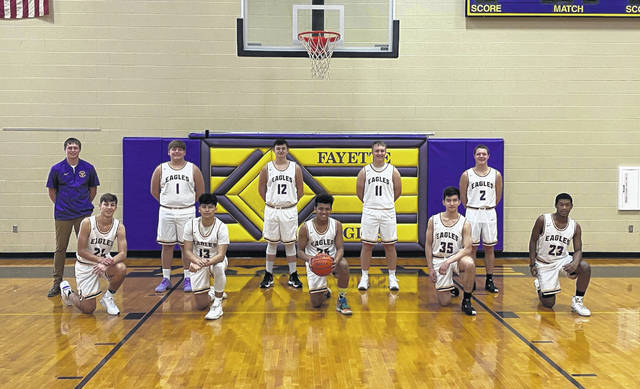 The 2020-21 Fayette boys basketball team.