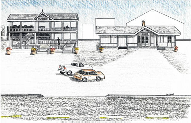 An early drawing of the proposed railroad park in Swanton.