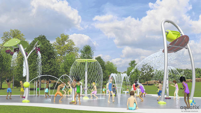 An artist's rendering of a proposed Archbold splash pad. The $430,000 project would have to be funded entirely by donations.