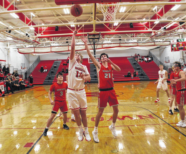 Kolton DeGroff of Wauseon scores inside in the second half of Saturday night's non-league contest with Bowling Green. The Indians would hold on for a 36-34 win over the Bobcats.