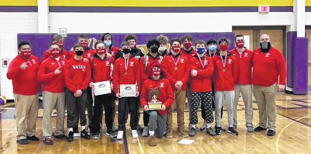 The Wauseon wrestling team won the NWOAL title Friday night in Bryan. They finished ahead of Delta 260-232.5 for the program's fifth straight league title.