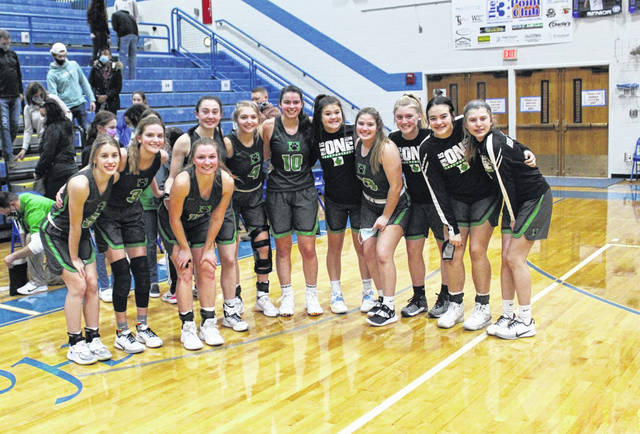 Joy spread across the faces of the Delta girls basketball team following Saturday's Division III district championship in which they came back to stun top-seeded Elmwood, 37-34. The Panthers will now head back to the regional for the second time in three years.