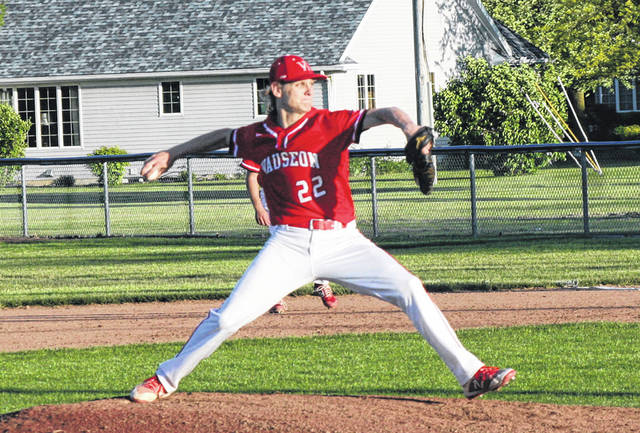 Wauseon's Connar Penrod pitches in a district semifinal game at Archbold in 2019. Penrod, a BGSU commit, is one of the better pitchers in the state according to his head coach.