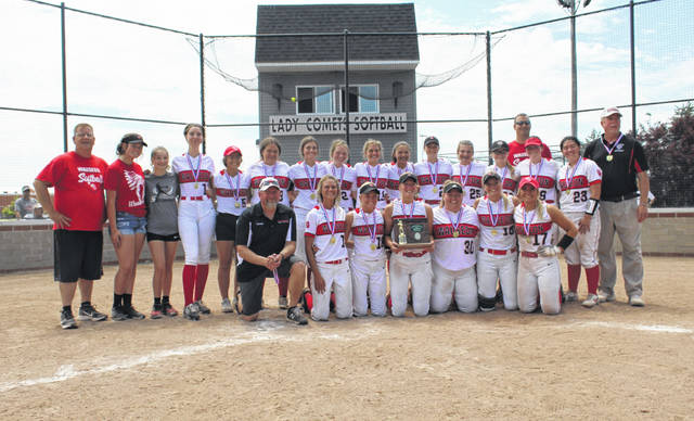Wauseon softball won a D-II district championship last week, culminating with a 13-9 come-from-behind win against Oak Harbor in the title game Saturday afternoon in Genoa. The Indians got to the district final with a 10-0 run rule victory over Clyde in five innings on Wednesday.