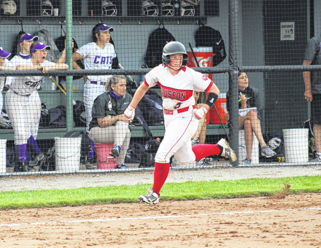 Olivia Gigax comes home for a Wauseon run versus LaGrange Keystone Wednesday in the regional semifinal. The Indians fell to the Wildcats 8-2, ending their season.