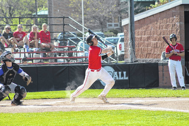 Sam Krasula of Wauseon watches a ball fly foul in the first inning of Thursday's non-league matchup with Springfield. The Indians took down the Blue Devils in six innings, 10-0.