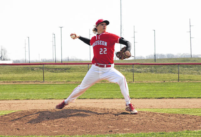 Wauseon's Connar Penrod on the mound in a non-league game against Ottawa Hills this season. The Indians received the fourth seed in the Division II, Archbold District where they will open up facing Bryan in a sectional final on Friday, May 21.