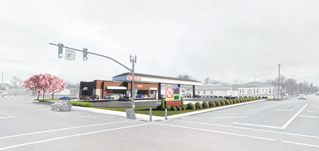 An artist's rendering of the new Circle K slated for Defiance Street in Archbold.