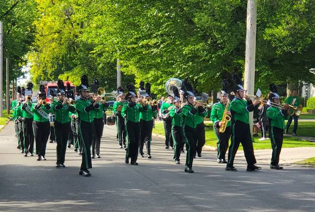 Memorial Day was observed Monday in Delta with a parade, followed by a service at Greenlawn Cemetery.