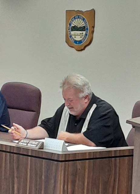 Wauseon City Council member Scott Stiriz recounted a Safety and Code meeting with Fulton County Health Department employees Karen Pennington and Isabella Ruiz.