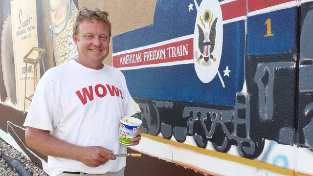 Dave Rickerd said being a muralist is the best job in the world.
