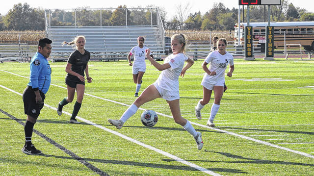 Leah McQuade of Archbold saves a ball from going out of bounds during a game a season ago. She was second team All-Northwest Ohio Athletic League and honorable mention All-Northwest District.