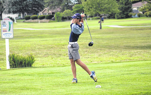 Luke Rosebrook tees off for Archbold during a match last season. He is back for his junior season in 2021.