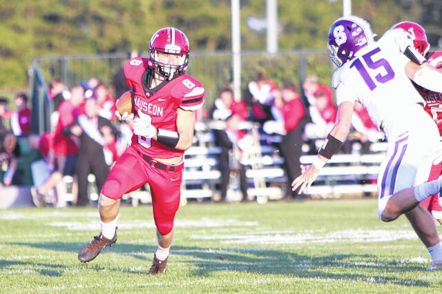Jude Armstrong of Wauseon looks for running room versus Swanton Friday night. The Indians took down the Bulldogs 41-7 to up their record to 3-2 on the season.