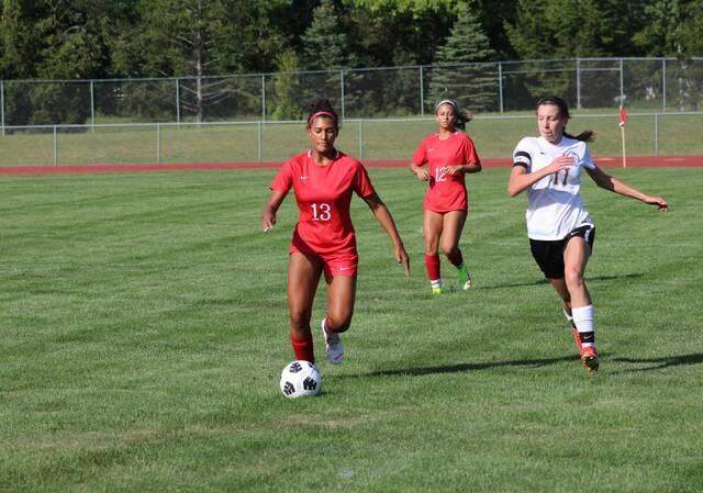 Aariyah Hallett of Wauseon handles the ball versus Continental in a game on Thursday, Sept. 2. The Indians bested the Pirates in that contest, 3-1.