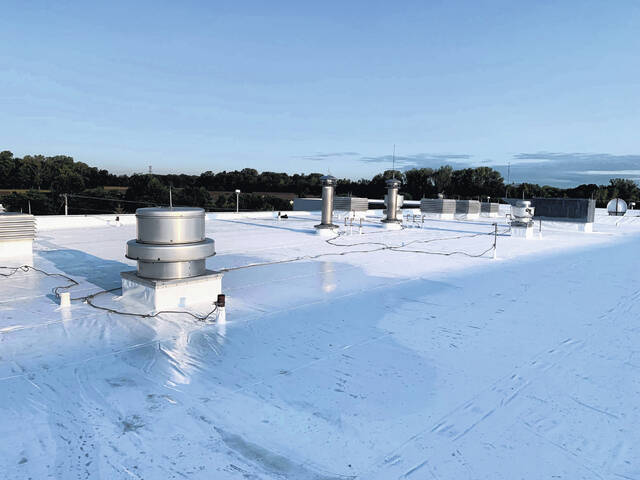 Roof repairs were recently completed at Swanton High School.