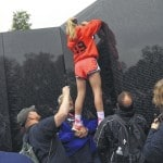 A name etched on the Vietnam Wall