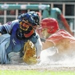 Reds fall to Indians in 11, 5-3