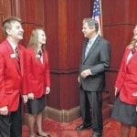 Visiting with Sen. Brown