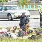 Scooter crash on I-75; CareFlight called