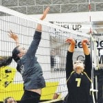 Lady Jacket spikers closeregular season with a win