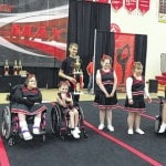 Specialty awards given to cheerleaders at the Y