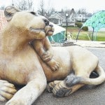 Lion statues installed in New Bremen