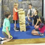 Scouts donate Jenga to YMCA