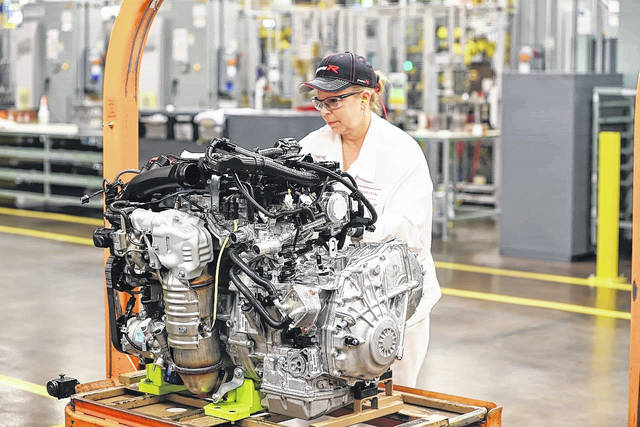 Linda Lentz completes a final inspection of the 25 millionth engine before it's shipped to the Marysville Auto Plant for placement in an all-new 2018 Accord.