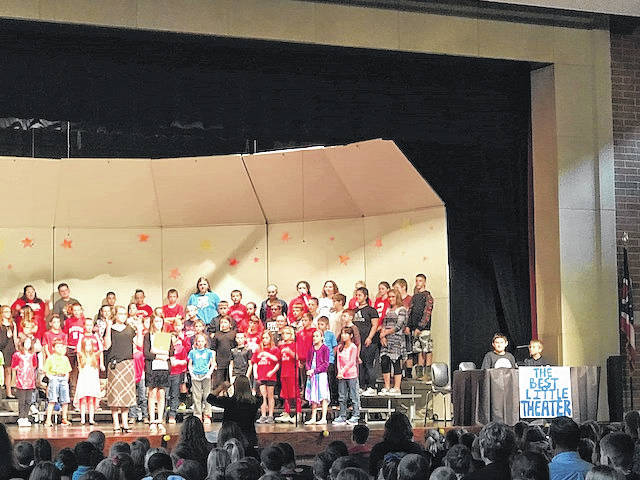 """The fifth- and sixth-graders at Hardin-Houston Elementary School has been busy this school year practicing for a play, which was performed Thursday. The students did two performances of """"The Best Little Theatre in Town."""""""