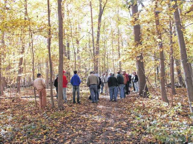 Participants walk through the woodland trails during the 2016 Forestry Field Day. this year's event will be held Sunday, Oct. 22.