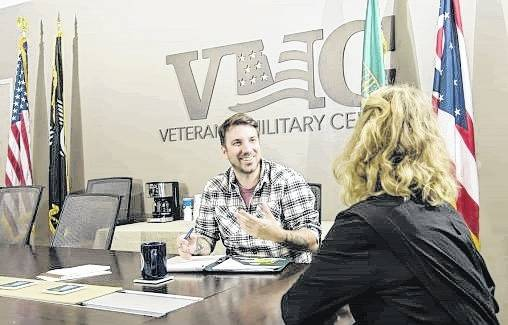 The Veteran and Military Center offers veteran and military students at Wright State a space where they can relax and study together.