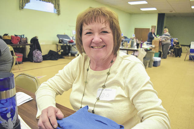 Debora Kremer Smith, of North Star, made her milestone 100th lifetime blood donation Jan. 9 at the Greater Greenville Ministerial Association blood drive.