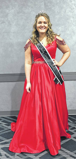 """2017 Shelby County Fair Queen Grace Homan, of Botkins, participated in the 2018 Ohio Fairs Queen Pageant at the 2018 Ohio Fair Managers Convention at the Greater Columbus Convention Center on Thursday, Jan. 4, 2018. Homan was among more than 75 county and independent fair queens involved in the contest. Though she did not reach the Top 16 round, she said, """"It was a good experience and I thought my interview and everything went well."""" Homan was the youngest contestant in this year's pageant. The winner of the pageant was Morgan McCutcheon of Licking County and the Hartford Independent Fair."""