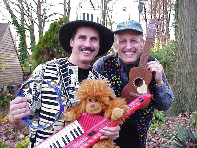 Larry Marra, left, and Jim McCutcheon will perform in Troy, Feb. 24.