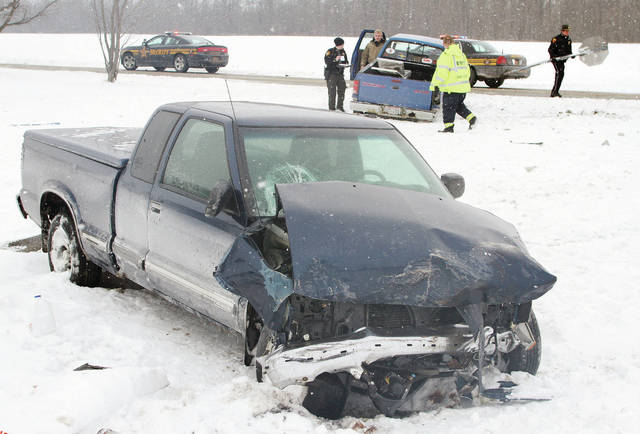 Despite substantial damage to the vehicles, no one was hurt when two pickup trucks collided at the intersection of state Route 705 and Barhorst Road around 2 p.m., Wednesday, Jan. 3. A stop sign was knocked over in the accident. The Shelby County Sheriff's Office, Fort Loramie Police and Rescue responded to the scene.