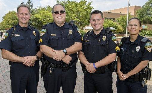 The Wright State community can meet with Chief of Police David Finnie, left, and other university police officers during a new discussion series beginning Jan. 17.