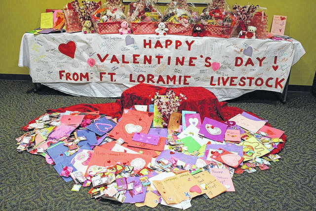 Valentine's Day cards and gifts provided by 4-H groups throughout Shelby County. The cards will be delivered to local assisted living facilities.