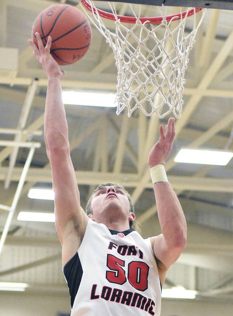 Fort Loramie's Tyler Siegel shoots against Marion Local at Trent Arena in Kettering on Friday. Siegel is one of over two dozen area players who will participate in District Nine all-star games on Friday at Troy's Trojan Activities Center.