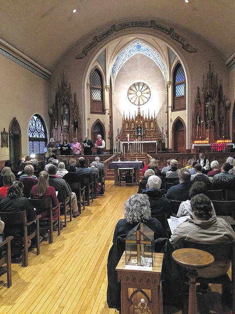 A Lenten Tenebrae service was held at the Maria Stein Shrine on March 22.