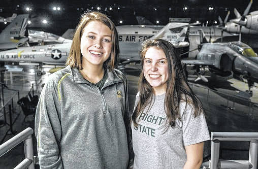 Christina Davis, left, and Andrea Poole, freshmen in the Department of Biochemistry and Molecular Biology, were part of a team that won a gold medal for their research project at a competition sponsored by MIT.