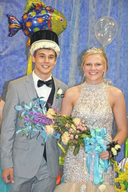 "Jarrett Meyer was crowned king and Abby Holthaus was crowned queen during Fort Loramie's prom Saturday, April 27. Meyer is the son of Mark and Lynn Meyer. Holthaus is the daughter of Don and Bev Holthaus. The theme for the prom was ""Under the Sea."""